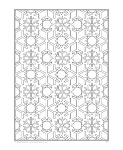 Page from Snowflakes Coloring book